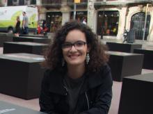 Marta Rexachs, guanyadora del primer premi al Talent Jove de la Fundación Textil Algodonera
