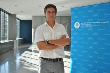 El investigador Carles Serrat en el Edificio Gaia de la UPC