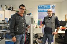 Marc Castellà i Vicenc Sala, els investigadors de MCIA  que treballen al projecte VEUREE