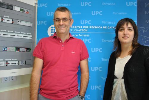 Miquels Casals, coordinador d'EnerGaware, i la investigadora Marta Gangonells