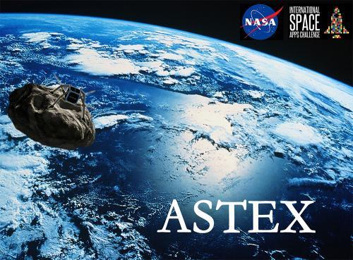 Simulación de ASTEX. El satélite acoplado al asteroide