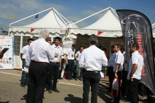 Un moment de la competició a Itàlia