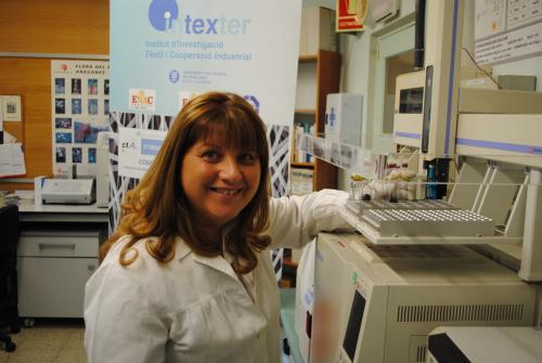 Carmen Gutiérrez, de LlINNOTEX Center-INTEXTER, coordinadora del projecte ECUval