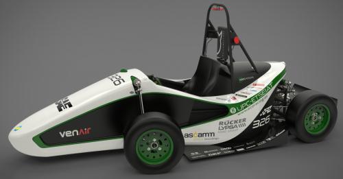 El bòlid ecoRZ, l'únic cotxe català  que competirà al mític circuit de Silverstone