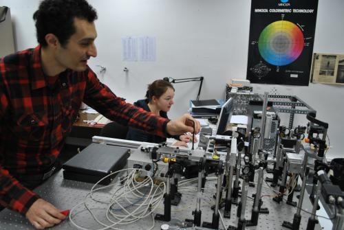 Uno de los laboratorios de I+D del Campus de la UPC en Terrassa