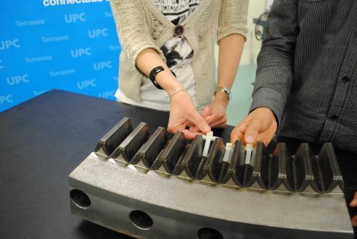 Detall de la vàlvula creada per Jasmina Casals i Josep Farrè